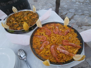 The freshest seafood paella served at your table....delicious!